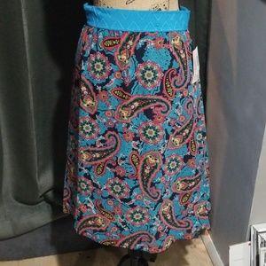 Gorgeous Blue Paisley Skirt